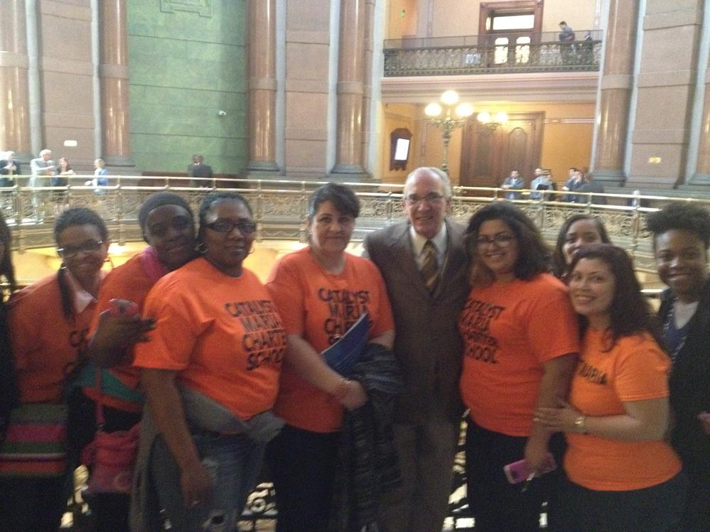 Catalyst Maria Parents with Rep Dan Burke